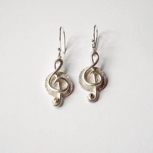 Duetto - Vioolsleutel oorhangers -