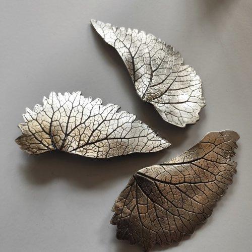 Feuilles - Zilveren broches -