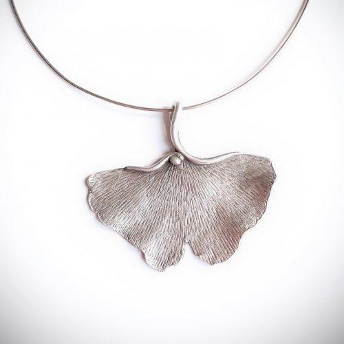 Ginko Farfalla - Zilveren hanger -