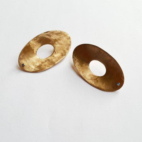 Golden Sapphire - Goudkleurige oorbellen -