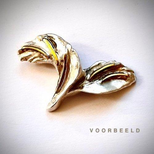 Libertad - Zilveren hanger met goud -
