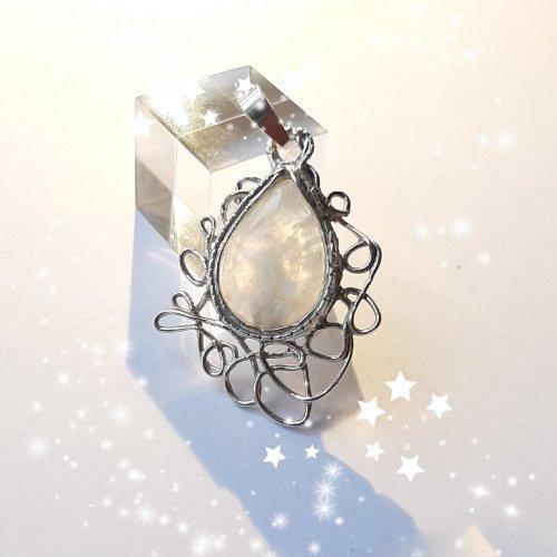 Luna Delicata - Zilveren hanger met maansteen -