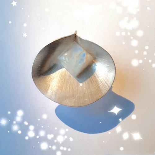 Luna Flora - Zilveren hanger met maansteen -