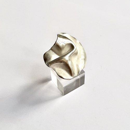 Mares -  Organische zilveren ring -