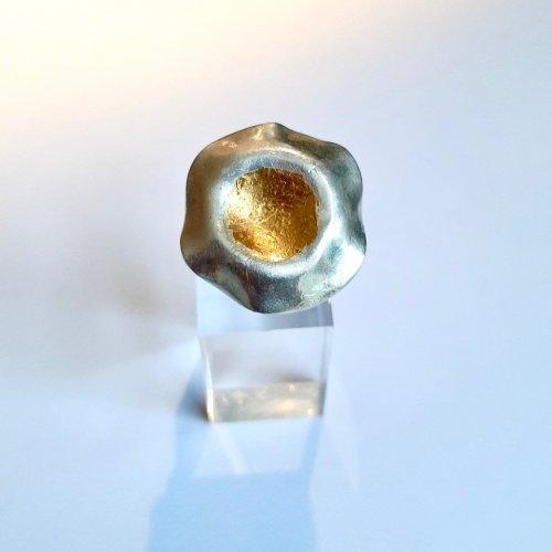 Morning Glory II - Zilveren ring met goud -