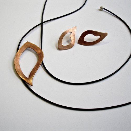 Move - Koperen oorstekers -