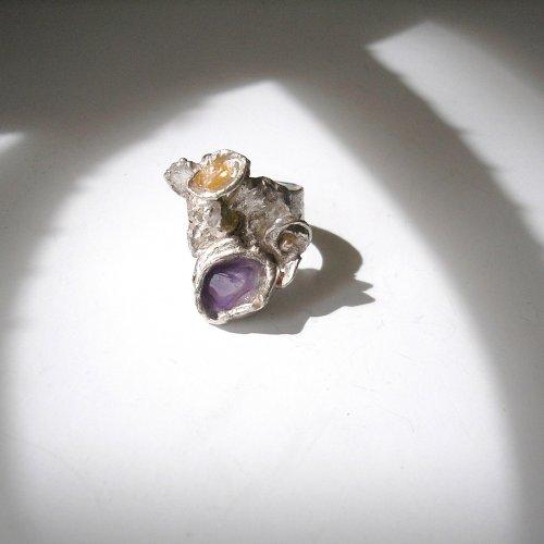 Mystere - Zilveren ring met Amethist -
