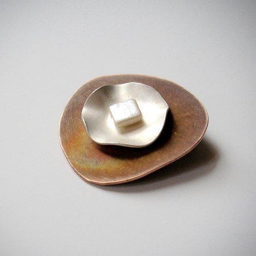 Paola - Broche van zilver en koper -