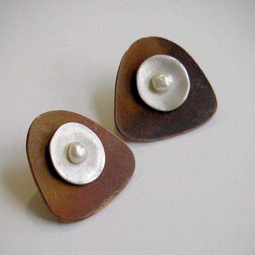 Paola - Koperen oorstekers -