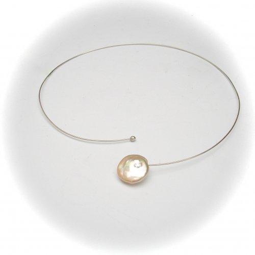 Pearl Wonder - Zilveren spang  -
