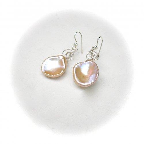 Pearl Wonders - Zilveren oorhangers -