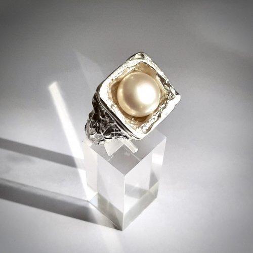 Pearlitude - Zilveren ring met parel -