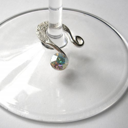 Silver Wine Charms -