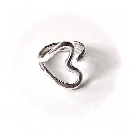 Sorpresa - Zilveren hartjesring -