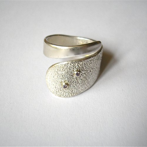 Sweety - Zilveren ring met amethist -