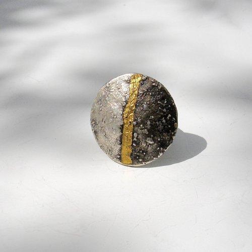 Twinnz - Zilveren ring met goud -