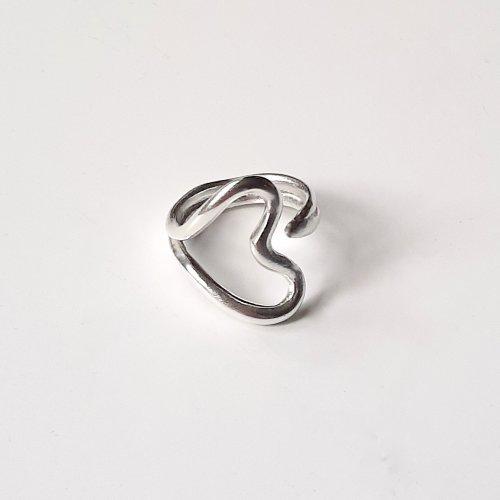 My Love - Zilveren hartjesring -