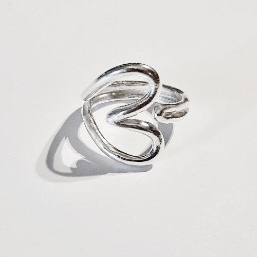 Sweety - Zilveren hartjesring -